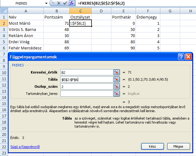 fkeres2 Excel csodafegyver: FKeres / VLookup