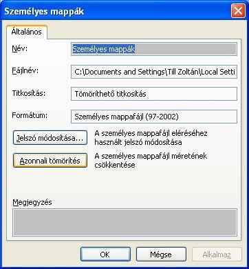 szemelyesmappa4 Veszélyes MS Outlook korlátozás